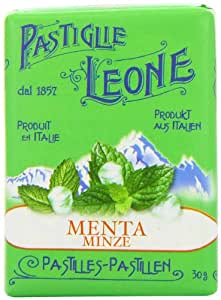 LEONE Box of Peppermint Pastilles 30 g (Pack of 6)