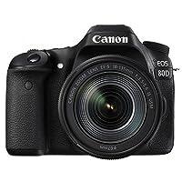 Canon 佳能 EOS80D(EF-S18-135IS USM) 数码 单反相机 套机 全像素双核CMOS 支持WiFi 黑色