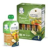 Gerber 椰子水饮品,香蕉芒果果汁饮料, 3.5盎司(104ml)袋装 (16件)