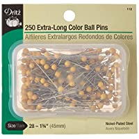 Extra Long Color Ball Pins-Size 28 250/Pkg