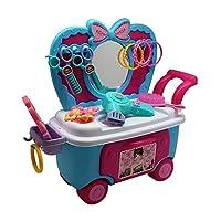 Forest & Twelfth 女孩*车,假扮游戏*套装,包括普通*沙龙配件:吹风机、镜子、发刷等 - 送给女孩的*礼物 3 岁以上女孩