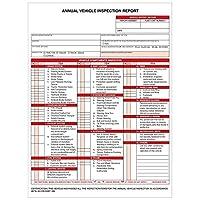 50 包 - 年度车辆检查报告 (AVIR) 表格 ( 3 层无碳 ) 按扣式 12.4 英寸 x 8.3 英寸 - 符合 FMCSA DOT 要求 49 CFR 396.21 - Briston
