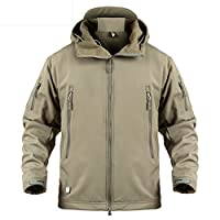 LASIUMIAT Special Ops 软壳夹克羊毛大衣 男式军事战术徒步迷彩狩猎夹克连帽