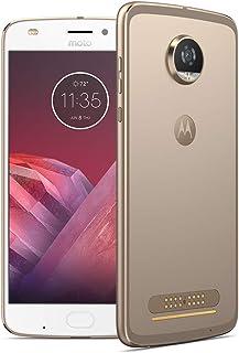 Motorola 摩托罗拉 Moto Z2 Play 智能手机(13.97厘米(5.5英寸),4 GB RAM,64 GB,Android)月亮灰色 + JBL SoundBoost 2扬声器SM4505AJ1F1  64GB White/Fi...