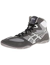 ASICS 男式 matflex 4摔跤鞋 Granite/White/Black 12 D(M) US