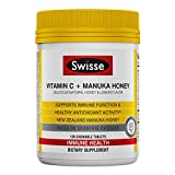 Swisse Ultiboost Vitamin C + Tablets, Manuka Honey, 120 Count