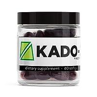 Nootrobox KADO-3 - Krill & Fish Oil DHA/EPA Omega-3 Blend, Vitamins D & K, and Astaxanthin Nootropic Stack + Peppermint Aftertaste (60 Count Soft Gels)