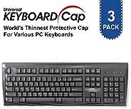 世界*薄的通用 0.025mm 防水防尘 TPU *级键盘保护套 适用于桌面 [3 件装]