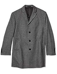 Calvin Klein 男式羊毛混纺大衣