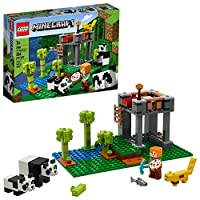 LEGO Minecraft 熊猫育儿 21158 儿童建筑玩具,送给我的世界和熊猫粉丝的*礼物,202020(204 件)