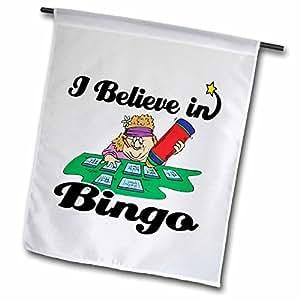 dooni Designs I believe IN Designs–I believe IN BINGO–旗帜 12 x 18 inch Garden Flag