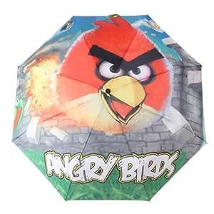 华庭丽娜 愤怒的小鸟 三折伞 太阳伞 伞面采用纳米技术 强力拒水一甩干 钢骨勾柄雨伞 防紫外线 晴雨伞