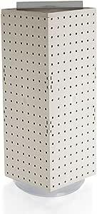 Azar 703385 联锁钉板显示屏,20.32 厘米 x 20.32 厘米 x 50.80 厘米 703385-WHT
