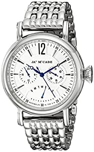 James McCabe 男式 JM-1017-22 Lurgan 模拟显示日本石英银色手表