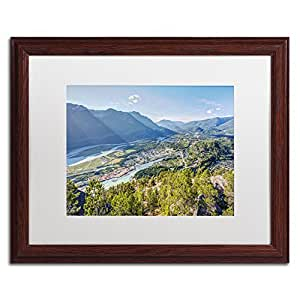 Trademark Fine Art Squamish Art by Pierre Leclerc in Wood Frame, 16 by 20-Inch, White Matte