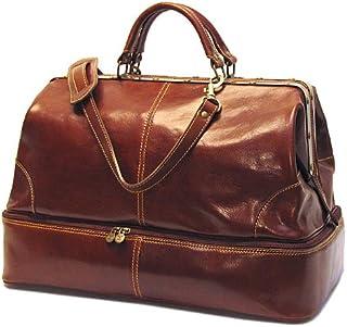 Floto Luggage Positano Grande Carry All, Vecchio Brown, Medium