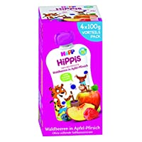 Hipp 喜宝果泥 树莓 苹果 桃子– Thilo虎, 4盒装(4 x 400克)