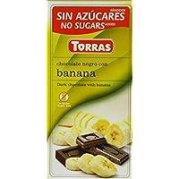 Torras 无添加糖香蕉黑巧克力棒 75 克(5 件装)