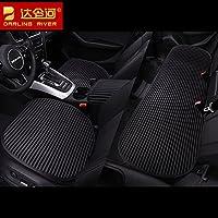 达令河单个汽车坐垫三件套捷豹XFL XJ XE林肯MKC MKX MKZ单片荞麦壳座垫 E15纯黑(三件套)