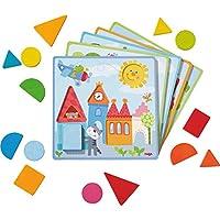 HABA 302949 – 关联游戏 动物冒险游戏 – 分类游戏 5 个主题卡和 15 个木质积木,不同形状和颜色木质玩具和纸板18个月以上