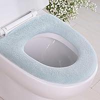 FaSoLa O型马桶垫 纯棉马桶垫 厚织O型马桶垫/马桶圈/马桶贴 坐便器套 (水绿色)