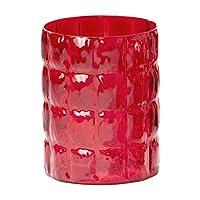 Kartell Matelasse 1225MR 花瓶 30 x 23 厘米 红色