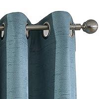dezene 时尚亚麻质地遮光窗帘适用于客厅–一套2片–室内遮光隔热窗帘窗帘帘幔,顶部