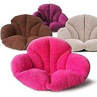 Yandex 日式仿羊羔绒保暖座垫 沙发垫毛绒靠垫 创意多色椅垫 加厚办公室美臀护腰坐垫 卧室小沙发 (咖啡色)