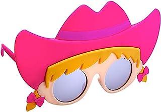 Sun-Staches Cowgirl Lil' 角色太阳镜儿童派对喜爱儿童阴影 UV400