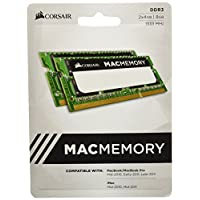 Corsair Apple Certified 8GB (2x4GB) DDR3 1333 MHz (PC3 10666) Laptop Memory (CMSA8GX3M2A1333C9)