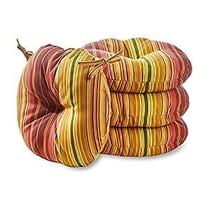 Greendale Home 时尚 38.1 cm。 圆形户外 Bistro 椅垫(4 件套) OC6816S4-KINNABARI