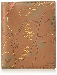 Fossil Men's Printed Map Leather Rfid Blocking Passport Case