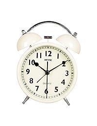 汉时闹钟机械打铃贪睡金属闹钟学生儿童卧室懒人床头创意闹钟HA71 (白色)