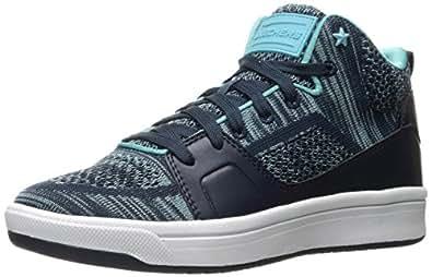 Skecher Street Women's Downtown-Fly High Fashion Sneaker Navy/aqua