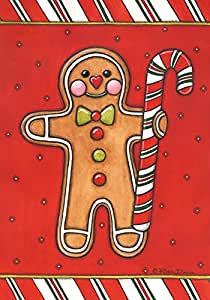 托兰家庭花园花园花园花园面包男士31.75 x 45.72 cm 装饰彩色圣诞假日饼干糖花园旗帜