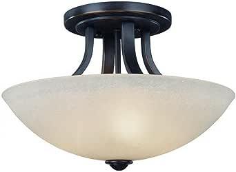 Dolan Designs 204-78 Fireside 3 Light Semi Flush mount, Bolivian 需配变压器