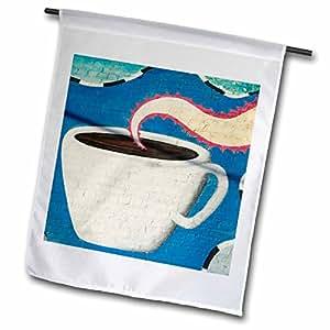 danita delimont–壁画–德克萨斯州,深 ellum district ,咖啡杯壁画–us44wbi0032–Walter bibikow–绘图本国旗 12 x 18 inch Garden Flag