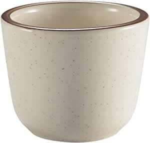 CAC China AZ-45 Arizona 2-7/8-Inch Brown Rim Brown Speckled American White Stoneware Chinese Tea Cup, 4.5-Ounce, Box of 36