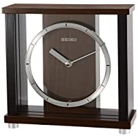 SEIKO 时钟 台式时钟 类似物 木框 浓茶 木质 BZ356B SEIKO