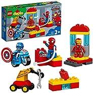 LEGO 10921 DUPLO 漫威*英雄实验室与蜘蛛侠,钢铁侠和美国队长,适合 2 岁以上幼儿