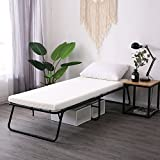 Leisuit Rollaway 客人床折叠床 - 便携式折叠床框带厚*泡沫床垫,适合备用卧室和办公室