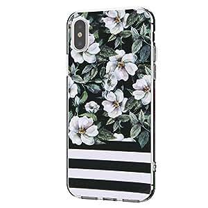 iPhone XR 花朵图案手机壳,iPhone XR 手机壳,女孩可爱花朵,女式纤薄软硅胶 TPU 手机壳:vl 19