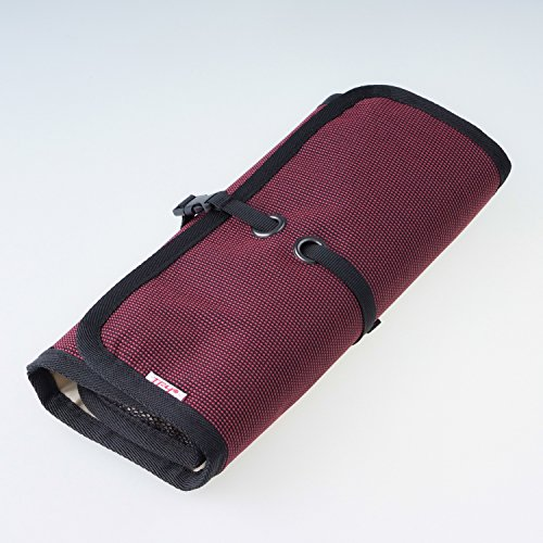 WANPOOLデータケーブル収納袋デジタルアクセサリーパッケージ携帯充電器モバイルハードディスクUディスク充電宝物カードリーダー仕上げバッグアウトドア旅行デジタルパッケージ仕上げパッケージ電子製品収納袋多機能収納バッグ便利で持ち運びが簡単(赤)