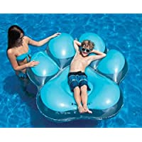 Swimline 充气爪印岛泳池漂浮,蓝色
