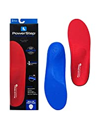 Powerstep Pinnacle PLUS Premium Orthotic Shoe Inserts, Full Support With Metatarsal Support