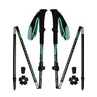 REDCAMP 鋁制步棒可折疊,2 件裝 1 年保修,超輕快速翻轉鎖登山杖