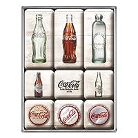 怀旧艺术 83082 可口可乐水瓶时间轴磁贴套装(9 件)