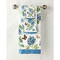 Lenox 蓝色花卉花园 3 件毛巾套装:浴盆、手、指尖