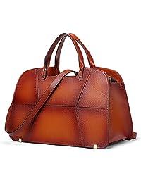 Coolcy 复古真皮手提包 女式简洁手提包