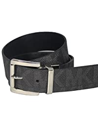 邁克高仕 Michael Kors MK Black Reversible Belt with Silver Buckle Size: L